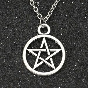 NEW Pentagram Star Pentacle Pendant Chain Necklace